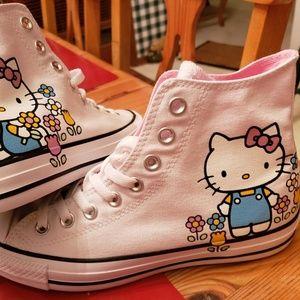 Converse Hello Kitty White Hi Top NWT